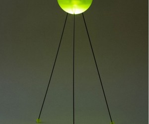 glowing led lamp green 2 300x250