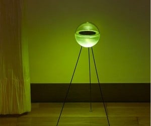 Glowing Solar LED Lamp: Looks Like a Ufo Landed in Your Living Room