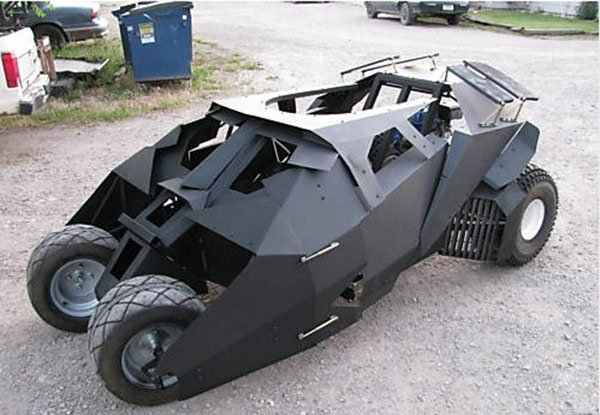 Batmobile tumbler go kart for dark squires technabob for How much does it cost to print blueprints