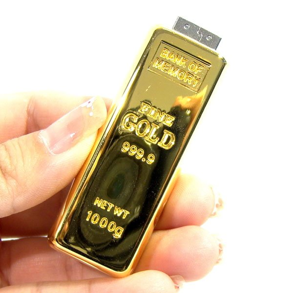 gold bullion usb flash memory