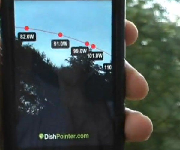 Dishpointer Augmented Reality iPhone 3gs App Helps You Find Satellites With Ease