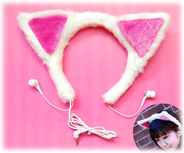 japanese cat earphones