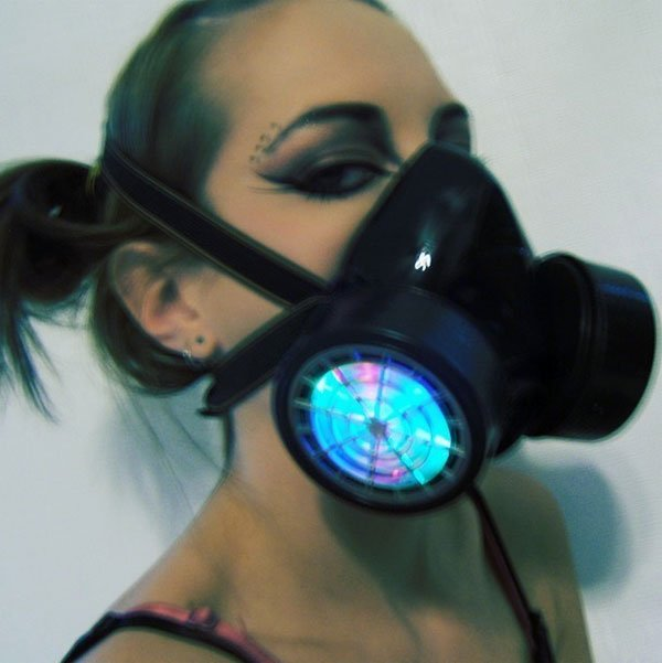 Rave Gas Mask Led Led Respirator Gas Mask