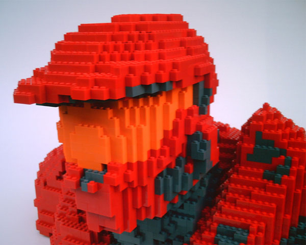 lego halo sarge red