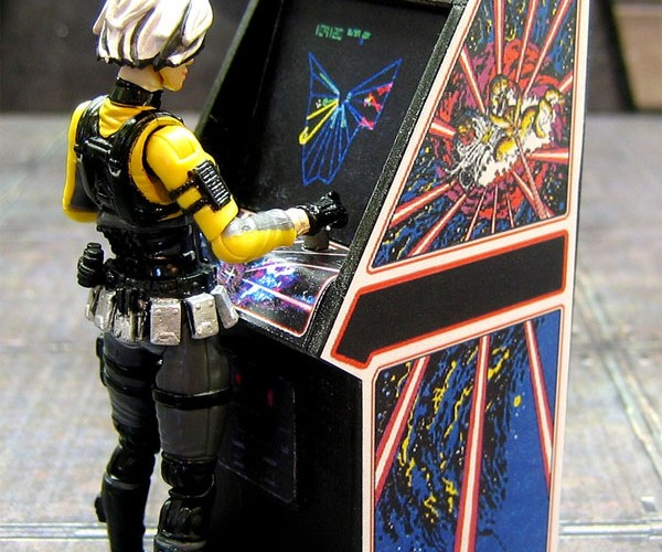 Amazingly Detailed Mini Arcade Cabinets Perfect for Barbie's Dream House