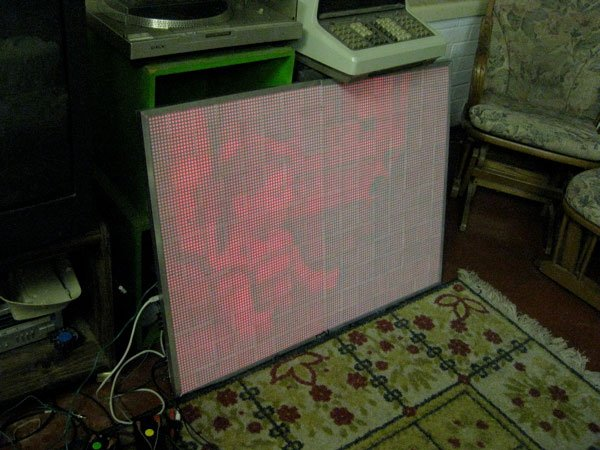 satanvision led tv red daylight