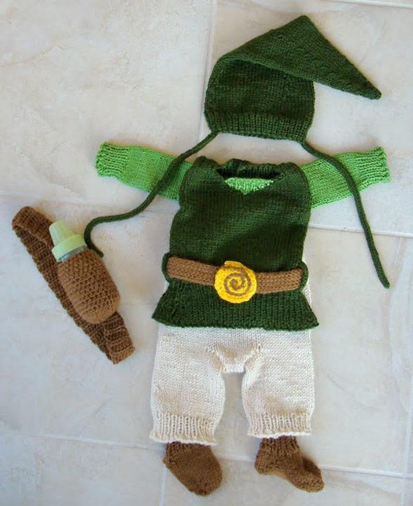 knit baby zelda link costume
