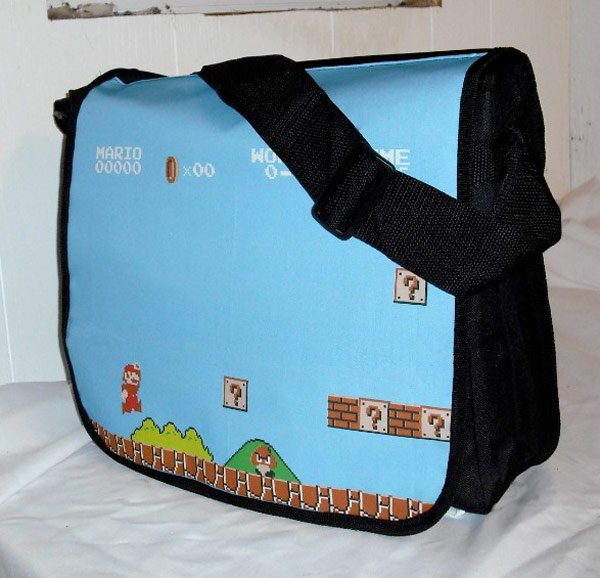 super mario bros messenger bag