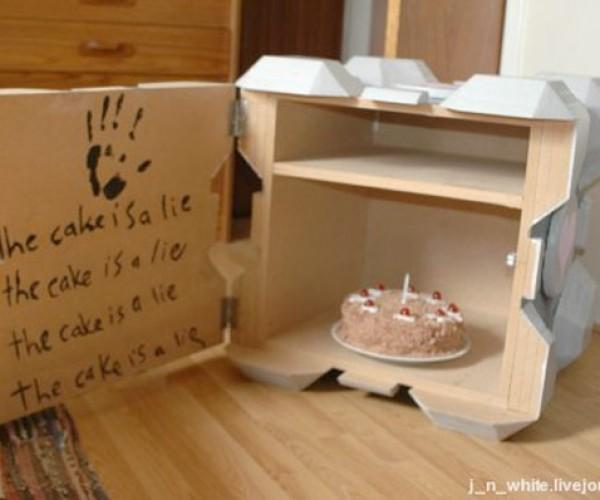 Companion Cube Cabinet Proves Portal Crafts Are Still Alive