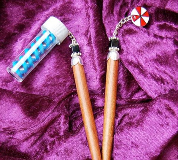 resident evil hairsticks