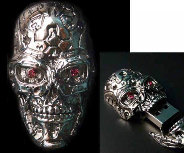 Crazy Expensive Skulltastic Terminator Thumb Drive