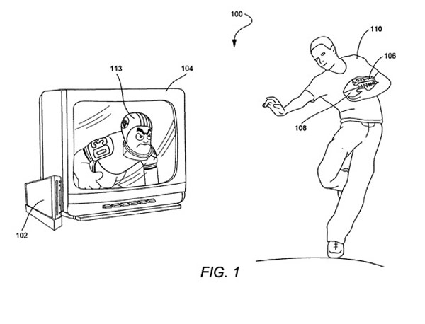 wii football patent controller