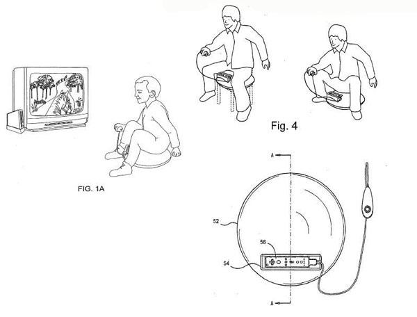 wii nintendo saddle controller patent
