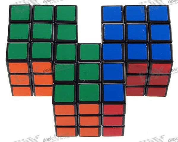 triple conjoined rubiks cube