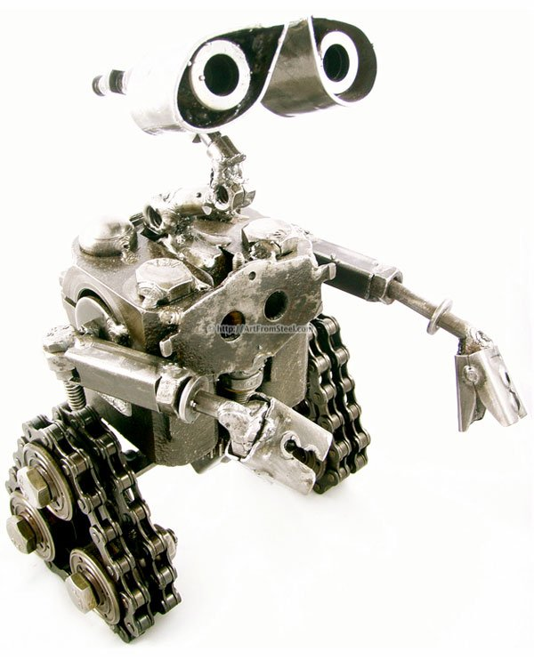 wall e art from steel