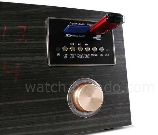 wooden sound box clock 2