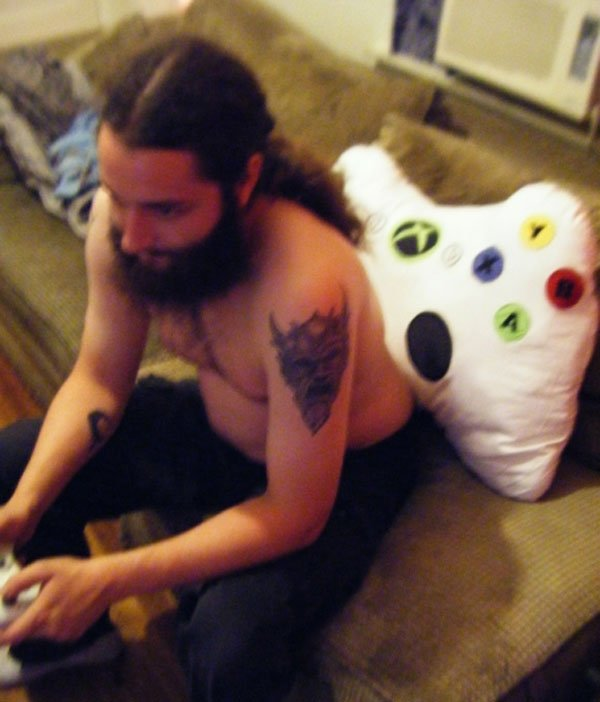 xbox 360 pillow dude