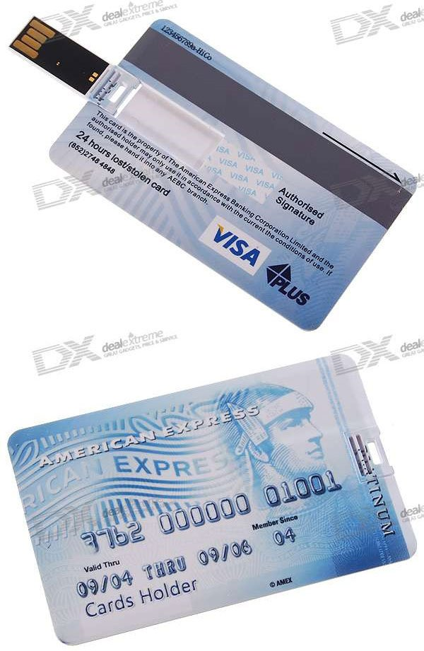 Credit Card Usb Flash Drives Don T Leave Home Without Em Technabob