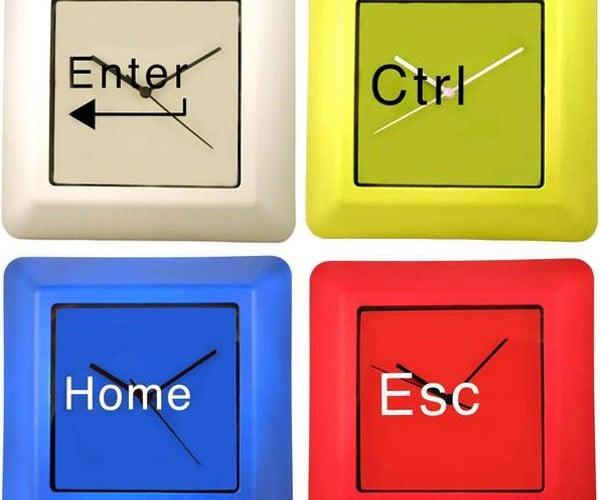 Computer Keyboard Clocks: Time to Press Enter