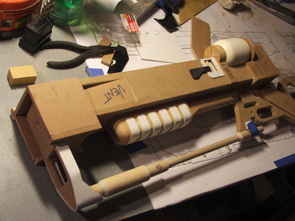 AER9 Laser Rifle, Assembly