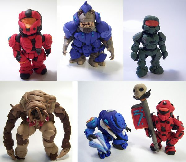halo clay figurines