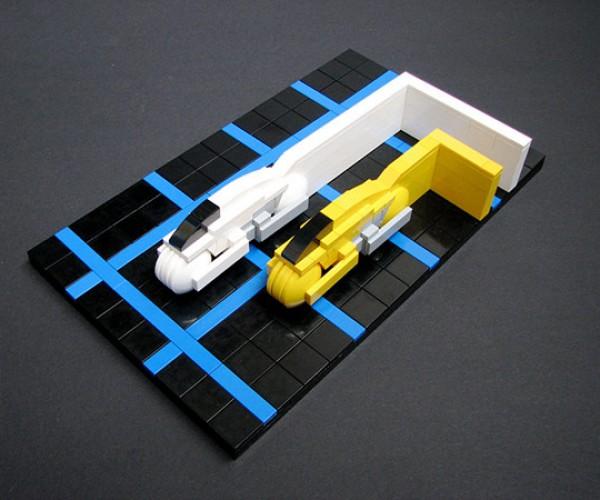 Legotron: Light Cycles Speeding Down the Block
