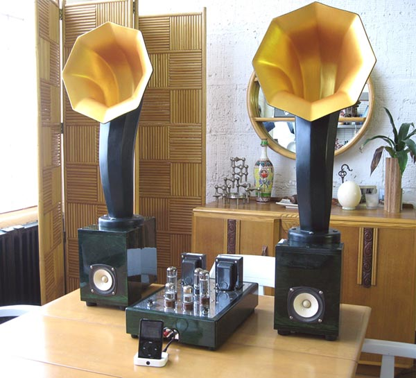 little horn speakers with tube amp