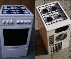 Minicooker Pc Oven Casemod: Now That'S Cookin' With Gas