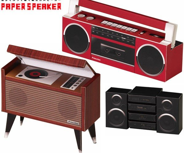 Papercraft Speakers Crank Out Modern Tunes in Retro Form