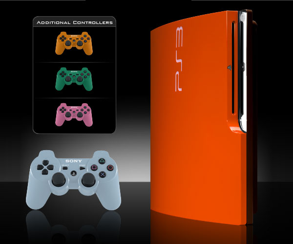 ps3 slim colorware orange