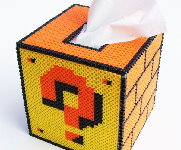 Question Mark Block Tissue Box Asks: is Your Nose Running?