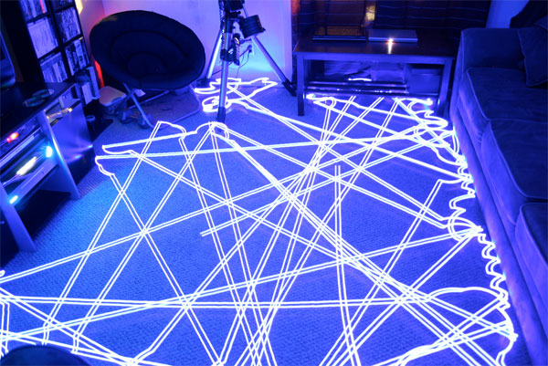 Roombas Make Dazzling Time Lapse Light Paintings