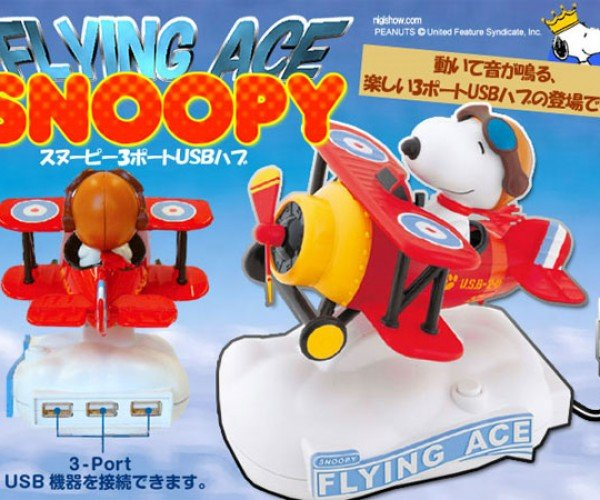 Snoopy USB Hub Comes in for a Landing