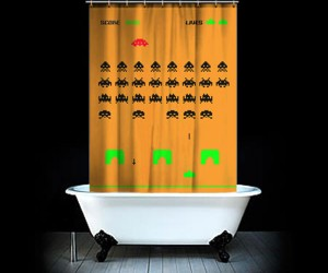 Space Invaders Shower Curtain: as Elusive as That Final Alien