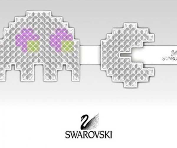 Swarovski Pretty Pixel Jewelry: Video Games Get Sparkly