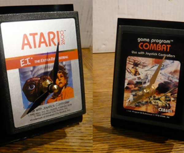 Atari 2600 Cart Clocks, Because You Hate Games