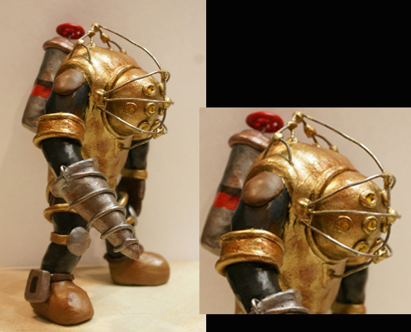 bioshock big daddy sculpture