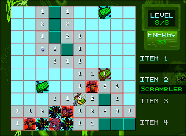 onslaught of the electric zombies minesweeper clone