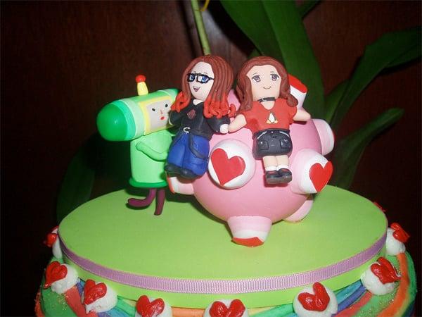 katamari damacy wedding cake geek