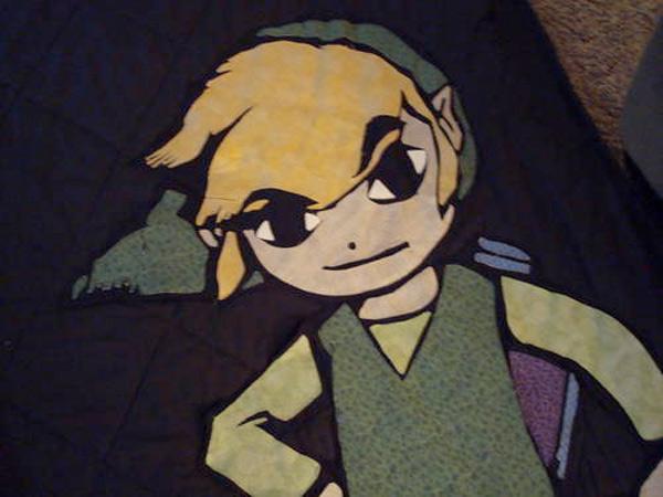 zelda link blanket quilt