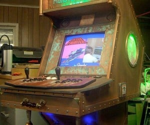 Steampunk-Inspired Monster Arcade Cabinet