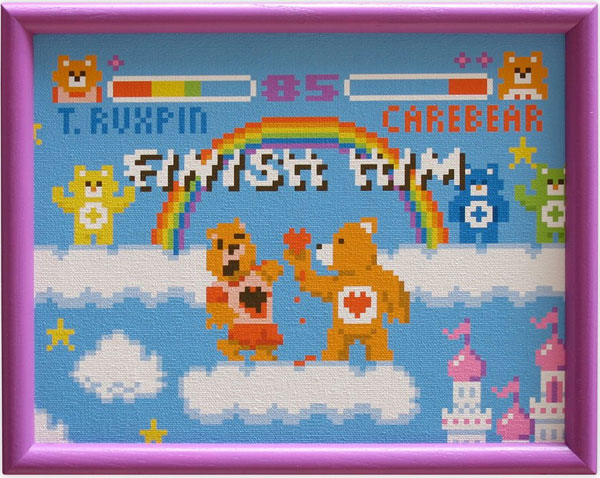 teddy ruxpin care bear fight