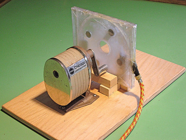 tesla turbine pencil sharpener