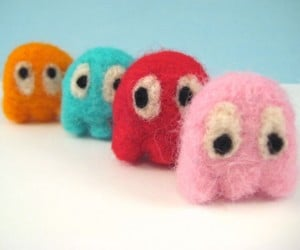 Woolygeeks' Fuzzy, Felted Video Game Characters