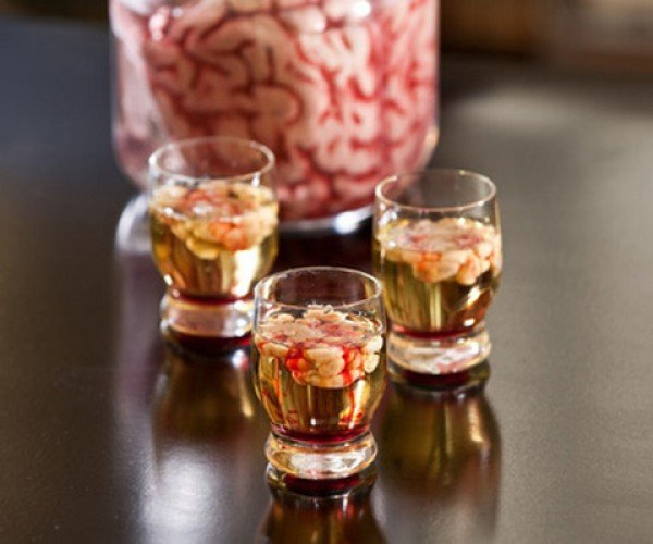 Bloody Brain Shooter: Perfect for Halloween Parties, if You Can Get Your Guests to Drink It