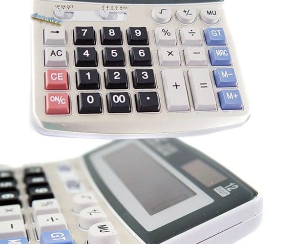 Calculator Conceals Tiny Spy Cam