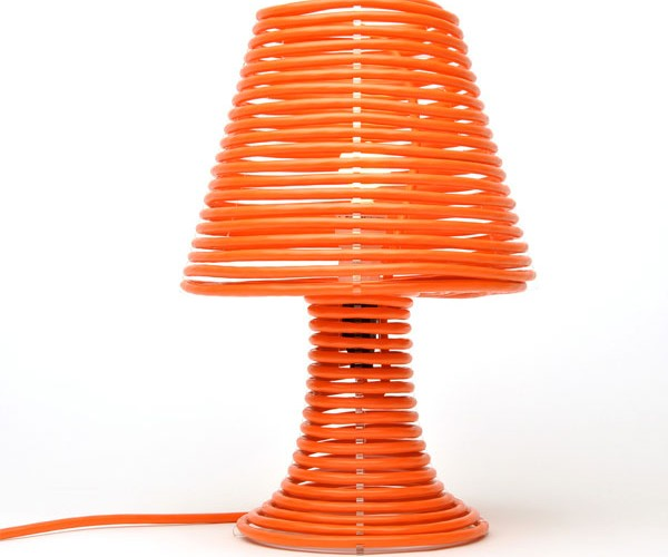 Coil Lamp Uses Extension Cord for Power and Looks