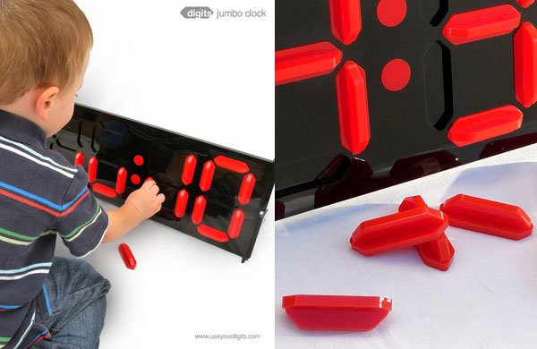 digits jumbo clock led puzzle