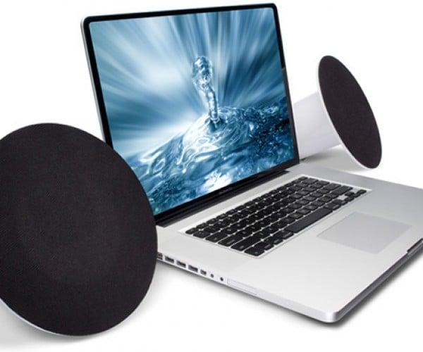 Lacie Sound2 USB Speakers Look Like Giant Earphones