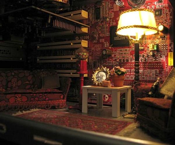 Tiny Living Room Makes Its Way Inside Pc [Casemod]